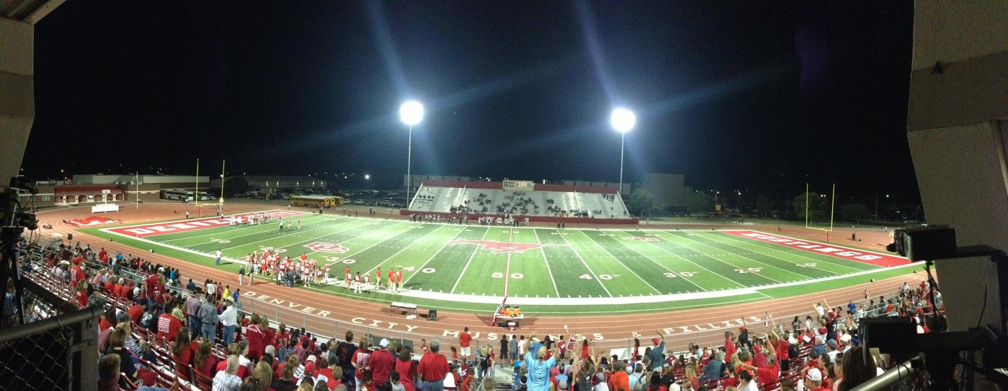 Pictured: Denver City Texas Football Field