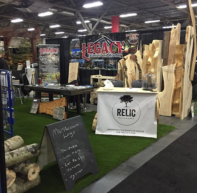 Come visit us today through Sunday at the Edmonton home and garden show  Hall B 14-51  We have some great deals on slabs at the show also our new mushroom logs