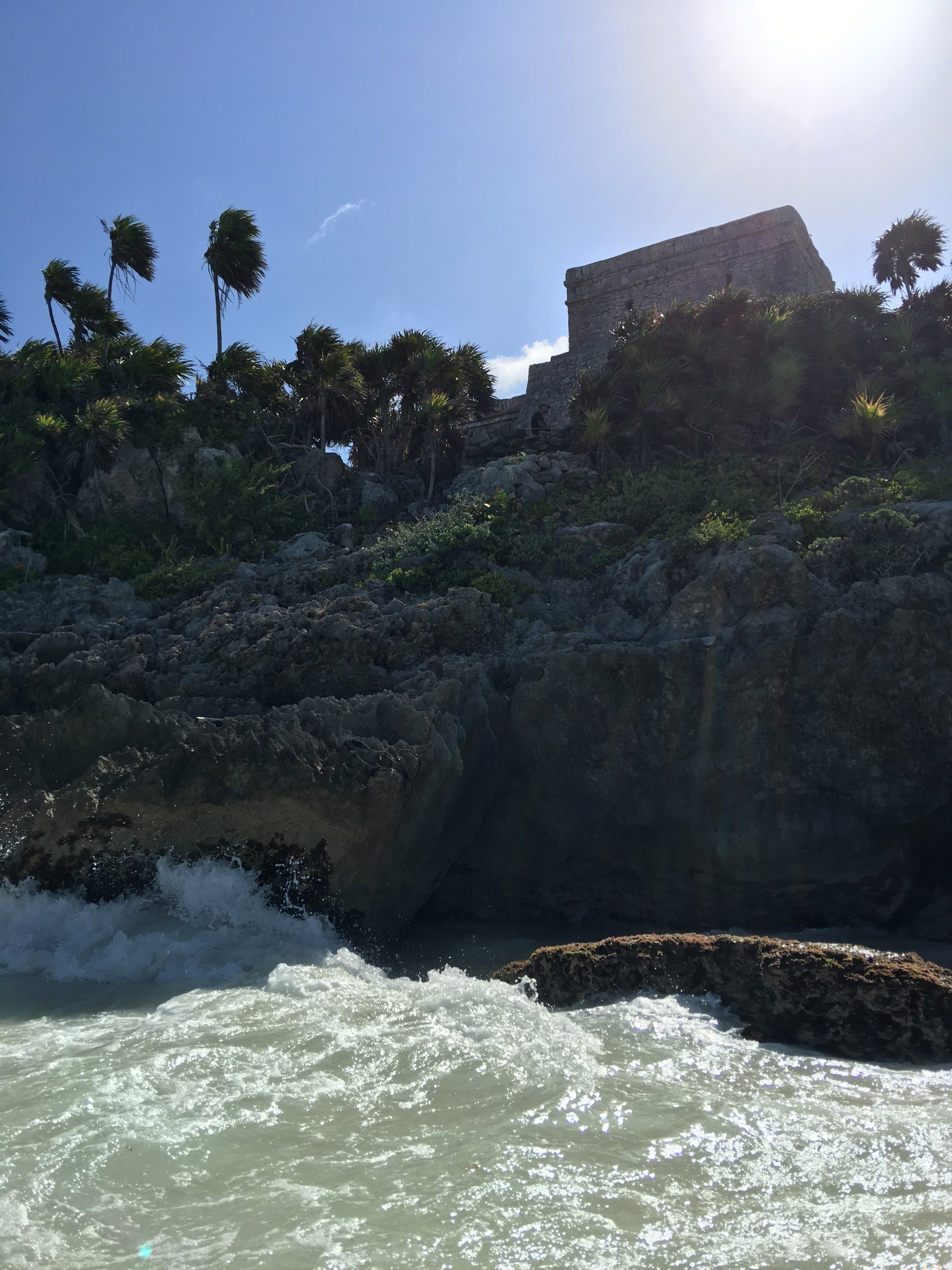 """It's amazing to look up from the water and see the back of """"El Castillo."""""""
