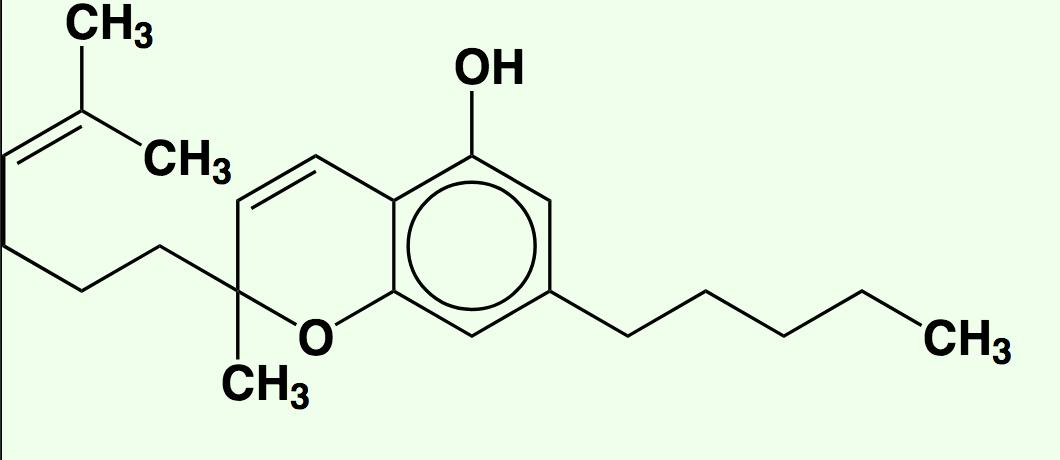 A molecule of cannabichromene (CBC) (Wikimedia Commons)
