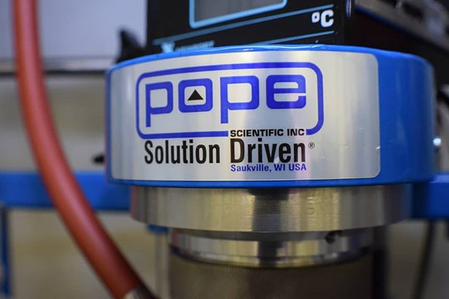"Behold: The Pope! This machine is a vital part of our ""unbaking a cake"" process as we break down cannabis into its fundamental components. It's used to make cannabis isolates, which then go into our CPC (Centrifugal Partition Chromatography) to fraction off CBD and CBG. . #cbd #rarecannabinoids #chromatography #cannabis #science #poweredbyebbu"