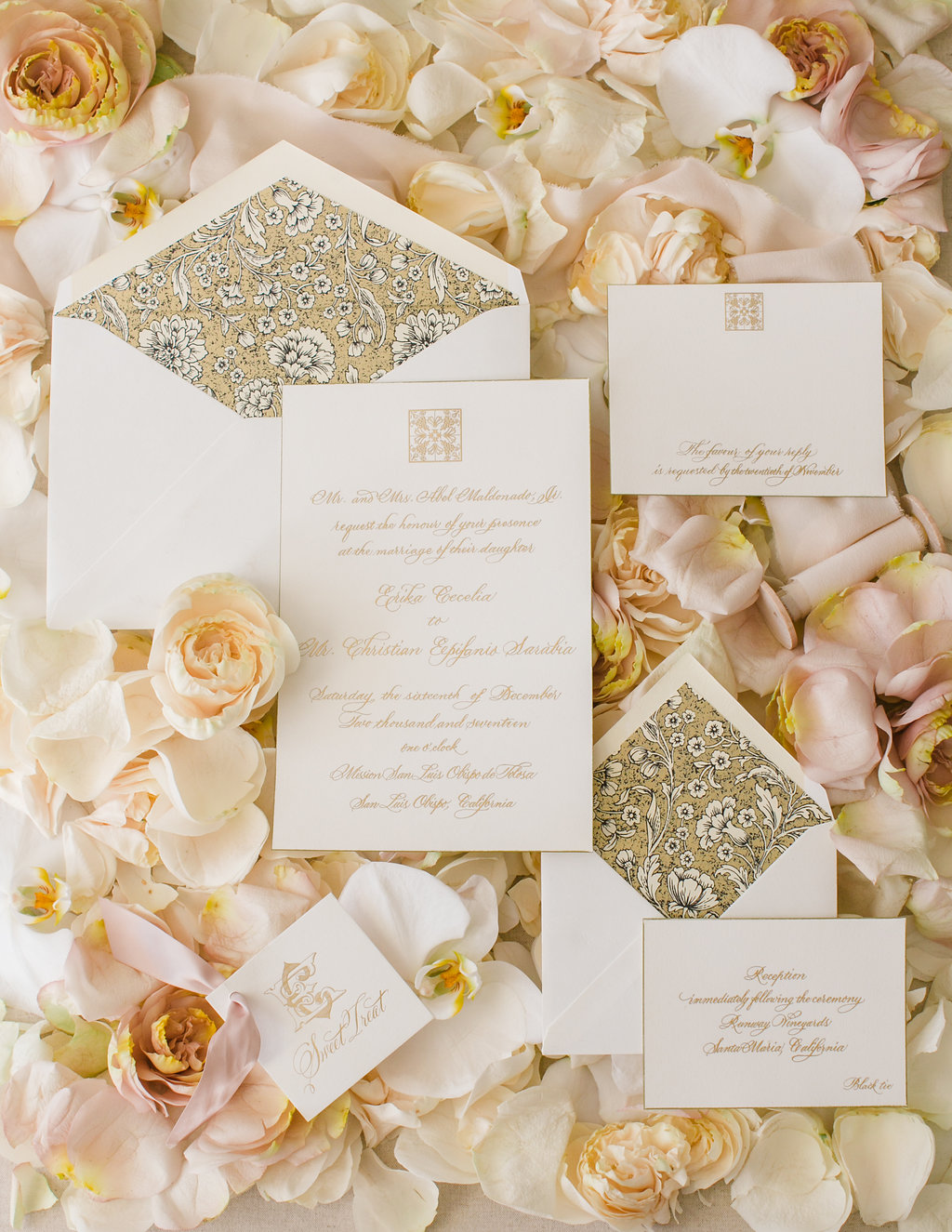 Michelle Beller Photography // Reception card indicates Black Tie