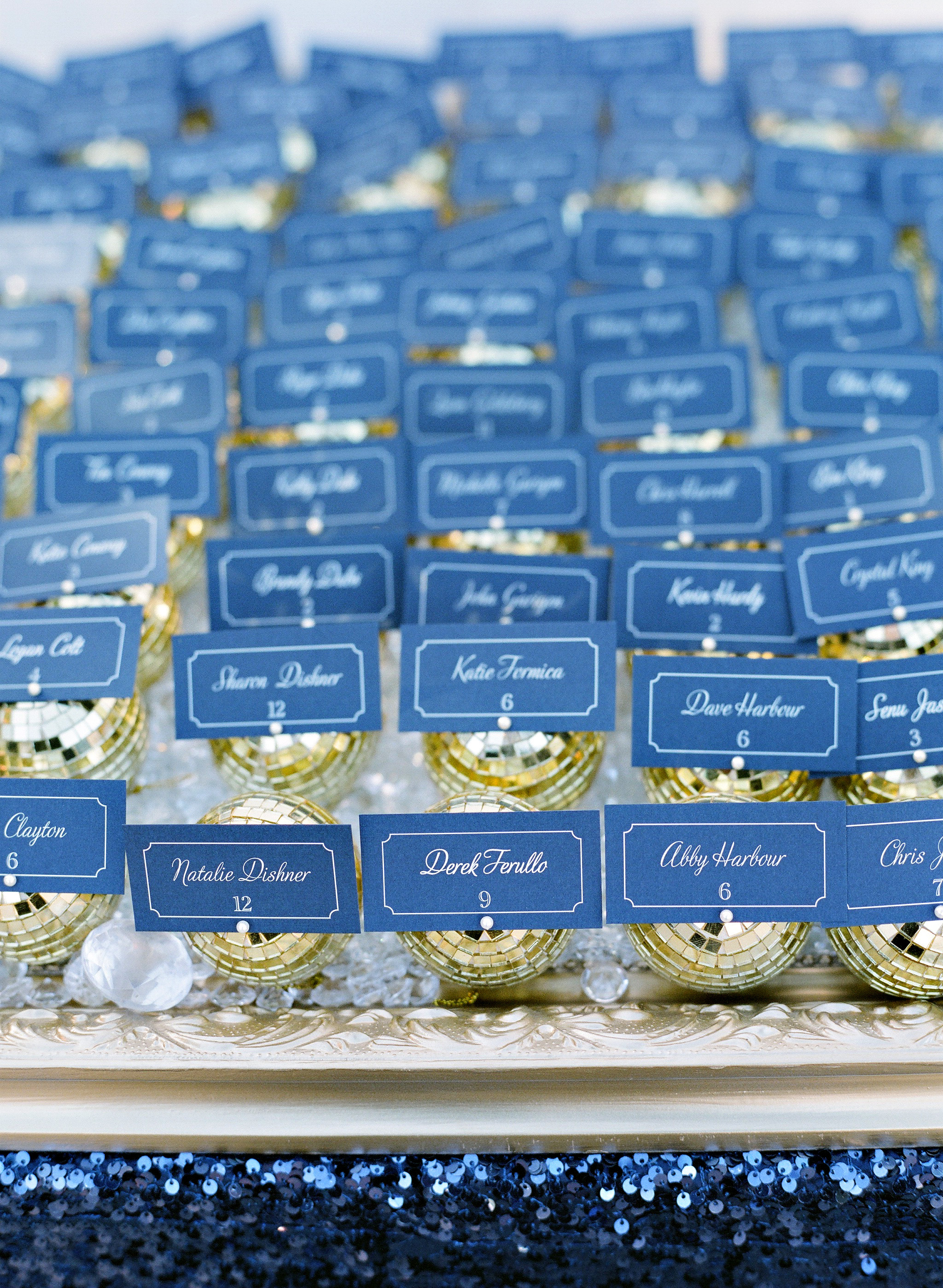 gold_disco_ball_escort_cards_custom.JPG