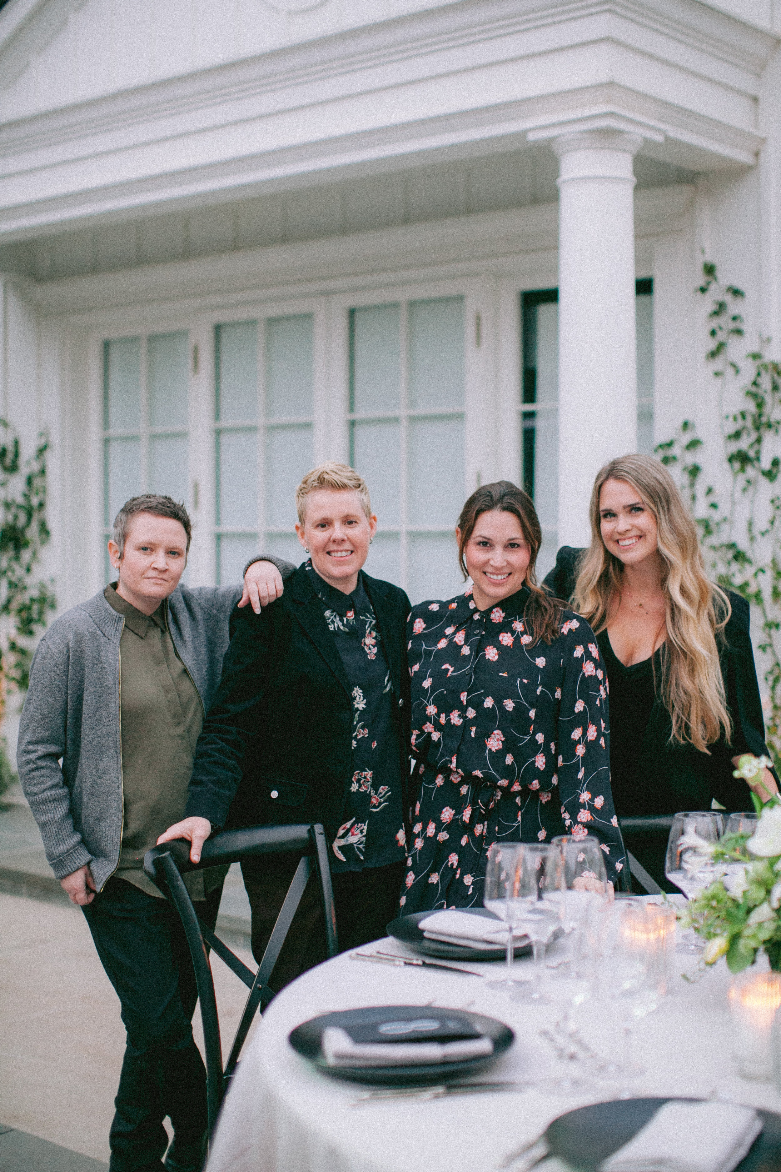 Left to right- Freddie & Bree of Rockrose Floral, Lindsey & Niki of Magnolia Event Design