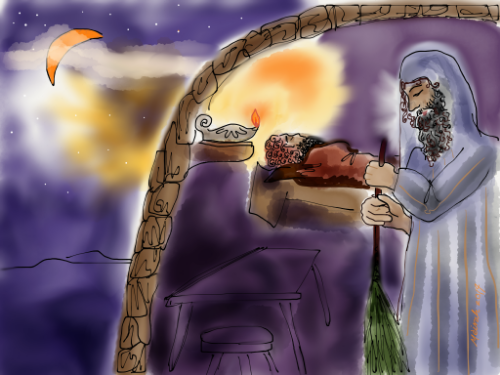 Rabbi Akiva visits his ailing student