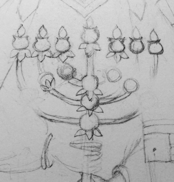 Uriel's mystical menorah of the Sephirot