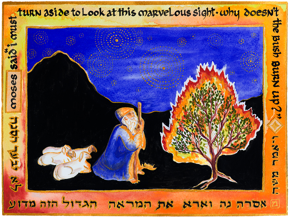 Moses ponders the Burning Bush