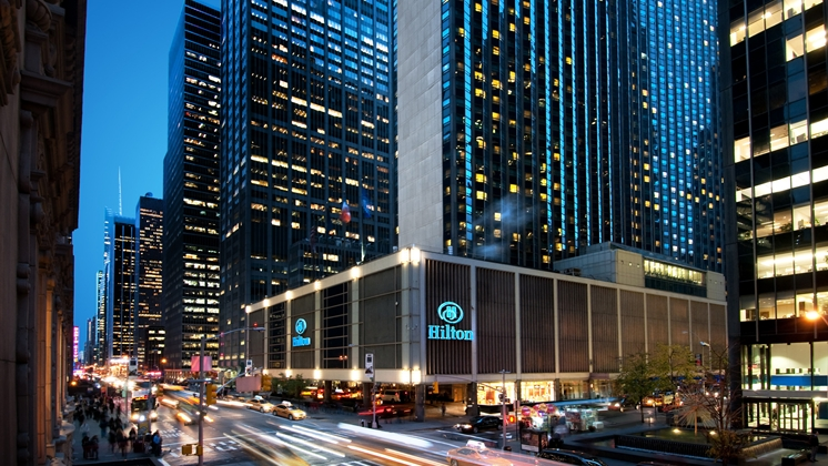 This is a lovely photo of New York City's biggest hotel, the Hilton Midtown. Photo credit: Hilton Hotels