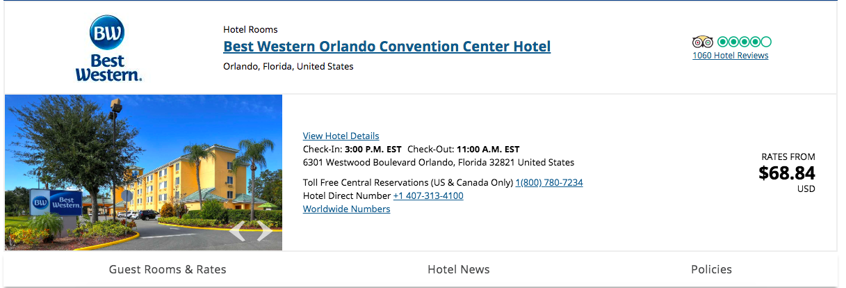 Um, that hotel room is not going to actually be $68.84