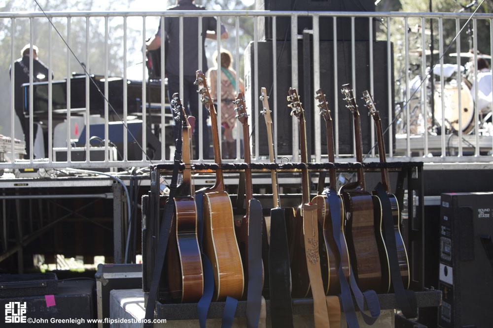 Backstage guitars, Hardly Strictly Bluegrass Festival