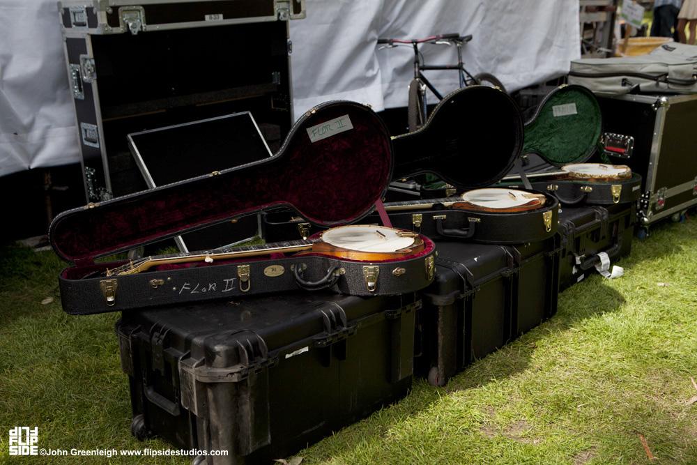 Steve Martin's Banjos backstage, Hardly Strictly Bluegrass Festival