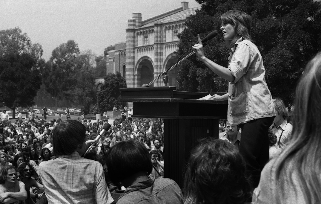 Jane Fonda at UCLA, May 1972
