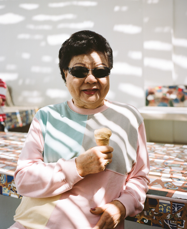 My grandma being a boss. She will never turn down ice cream.