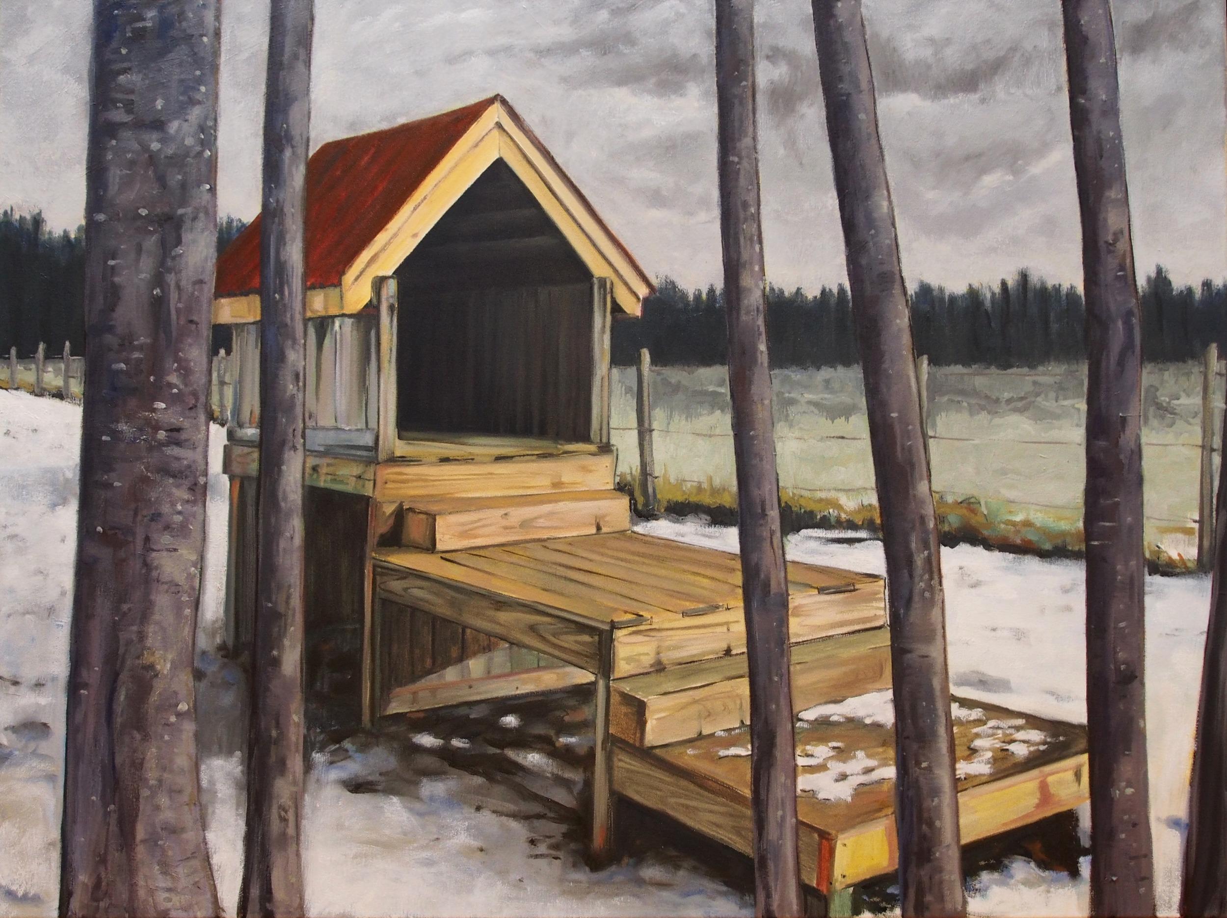 Abel's Rest,  2013-14 Oil on canvas 84 x 112 cm