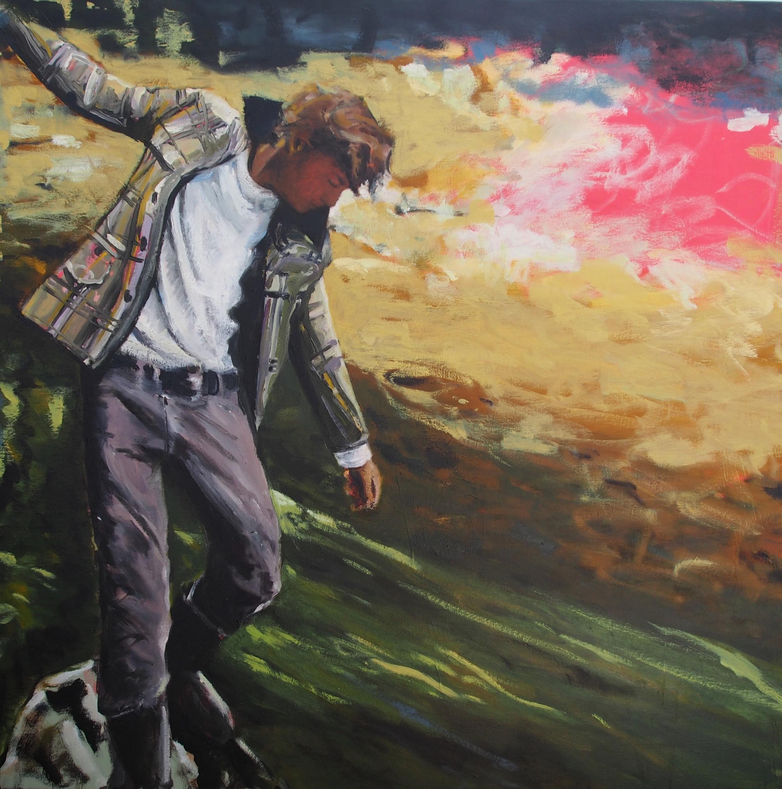 Frenzied Heart,  2013 Oil on canvas 101 x 101 cm