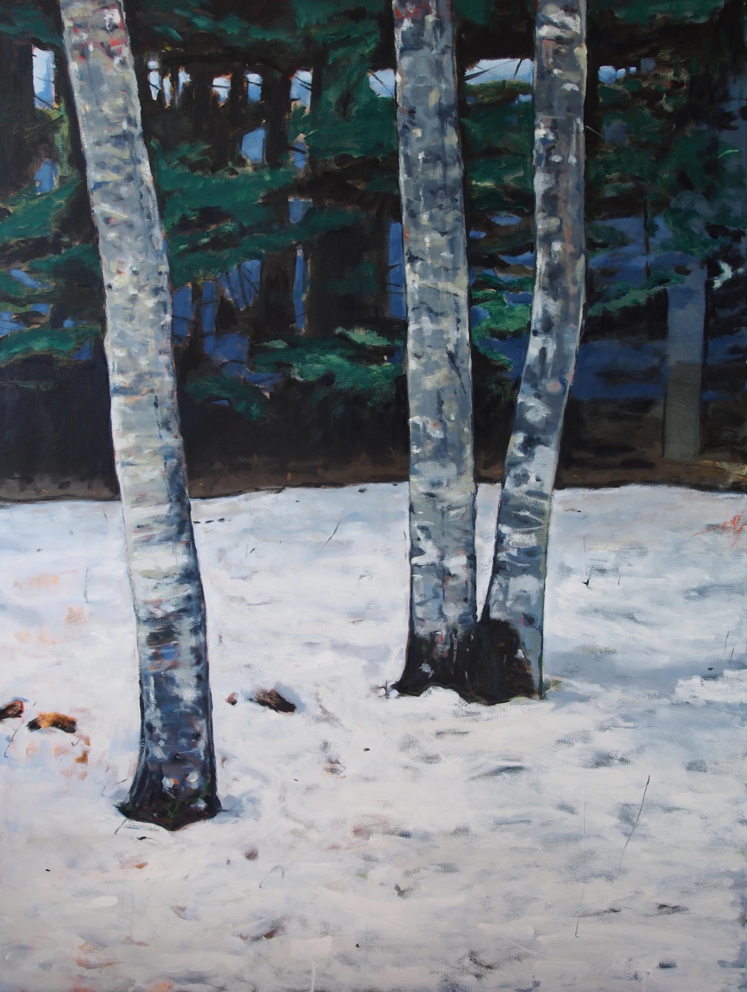 Sleep through the winter,  2014 Oil on canvas 183 x 137 cm