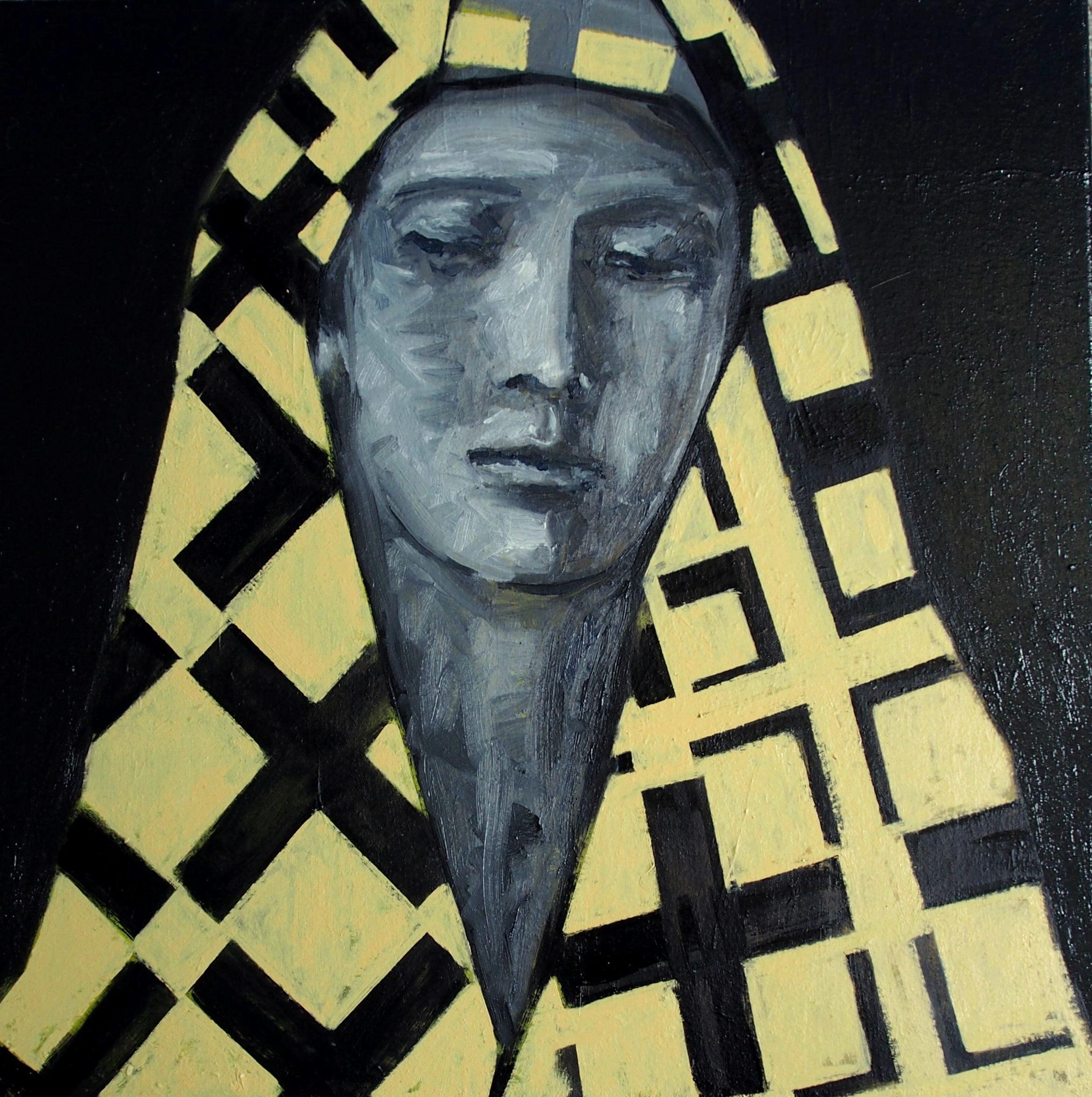 Kintsukuroi,  2013 Oil on linen 51 x 51 cm