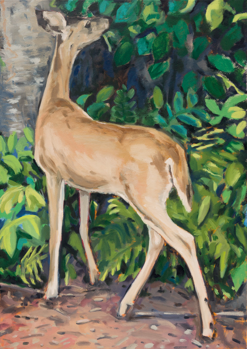 The deer,  2016 Oil on canvas 86 x 61 cm