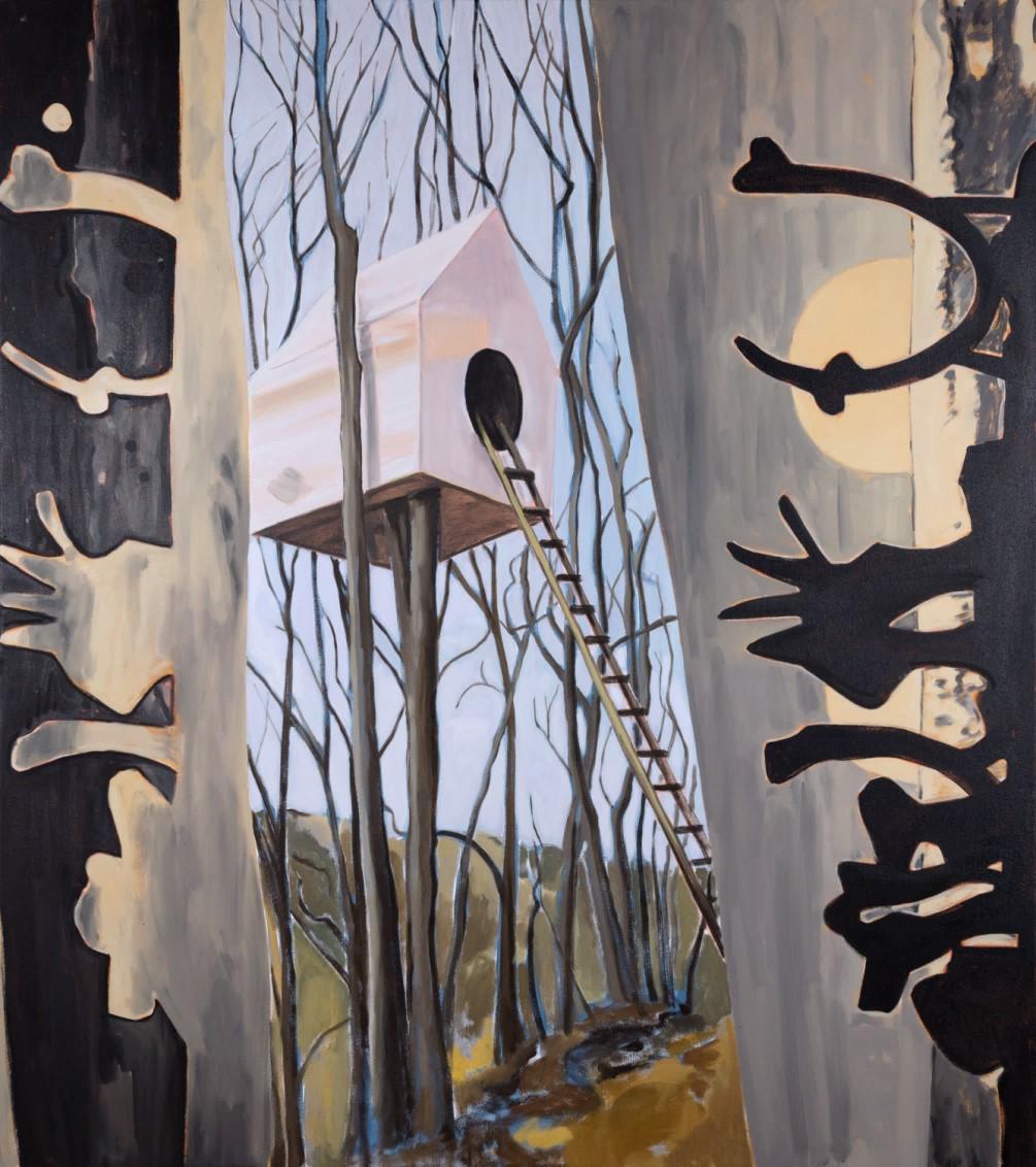 Hiding Place,  2018 Acrylic and oil on canvas 137 x 122 cm