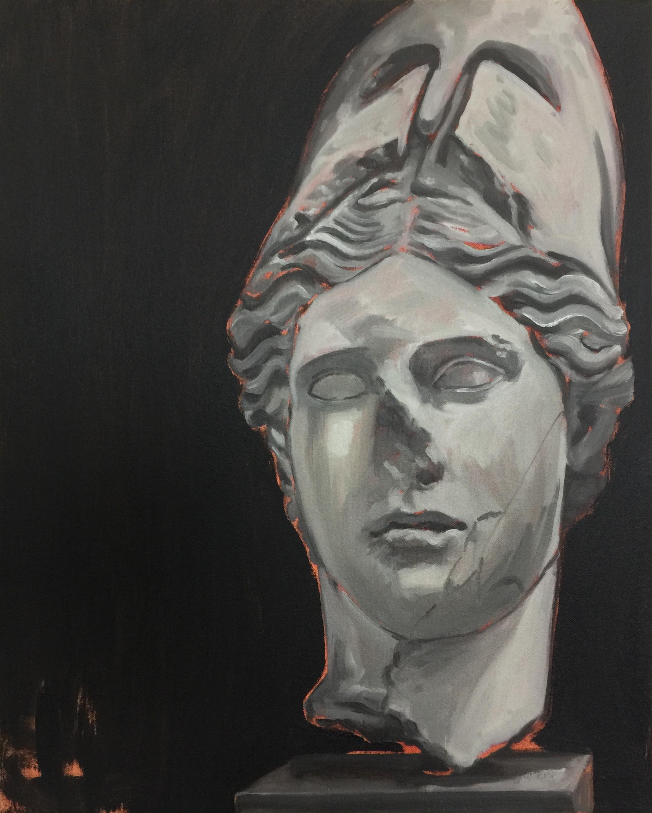 Damage #4, 2018 Oil on canvas 51 x 41 cm