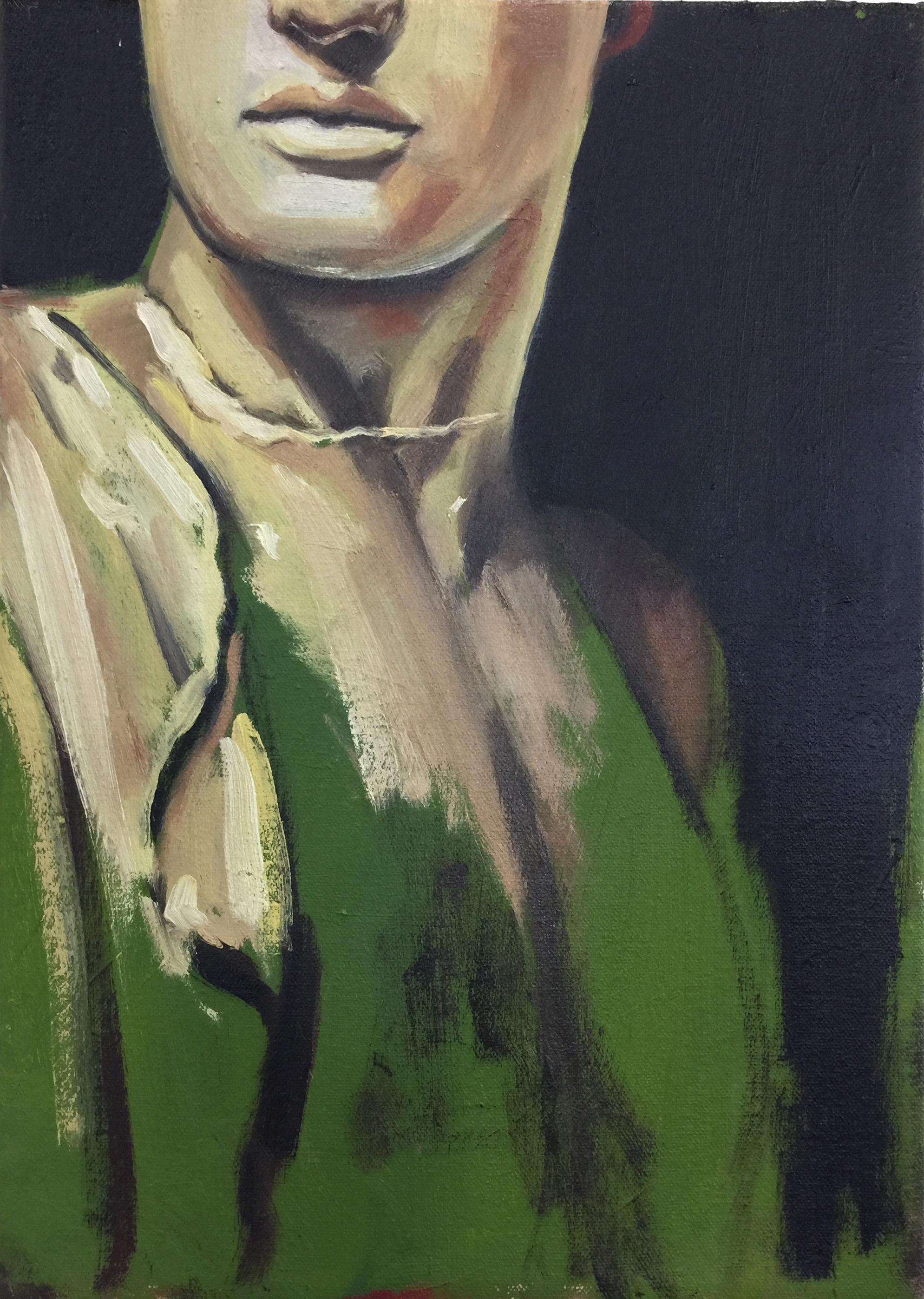 Damage #5,  2018 Oil on canvas 36 x 26 cm