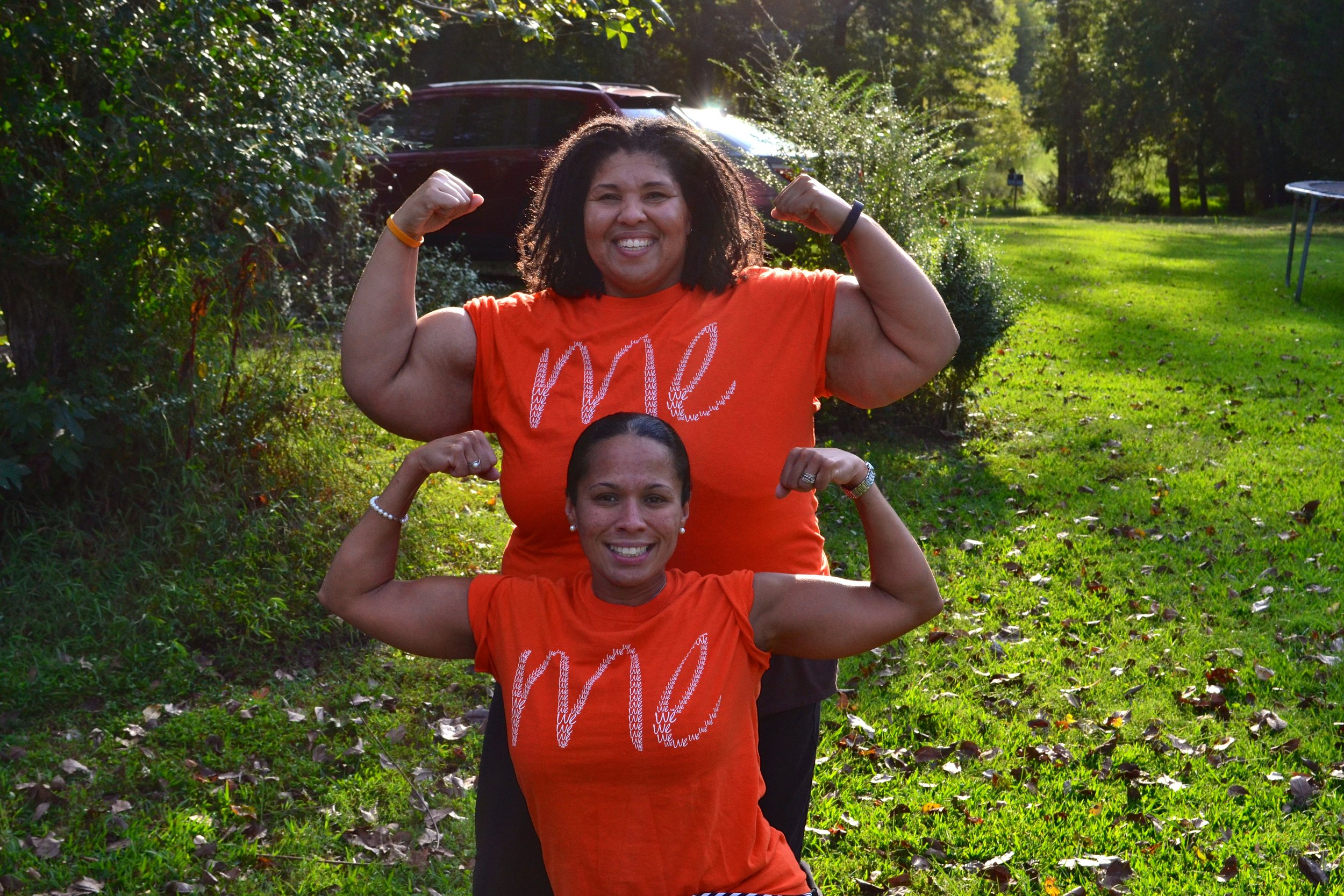 Tina Oxendine (front) & Yolanda Whitted