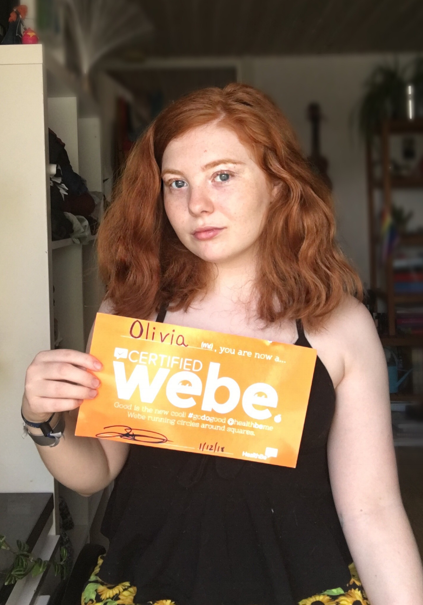 OLIVIA H.  - July 2018,Webe Of The Month