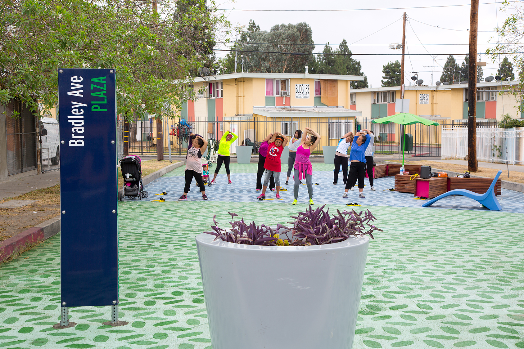 Dance and Fitness class at Bradley Plaza, San Fernando Valley