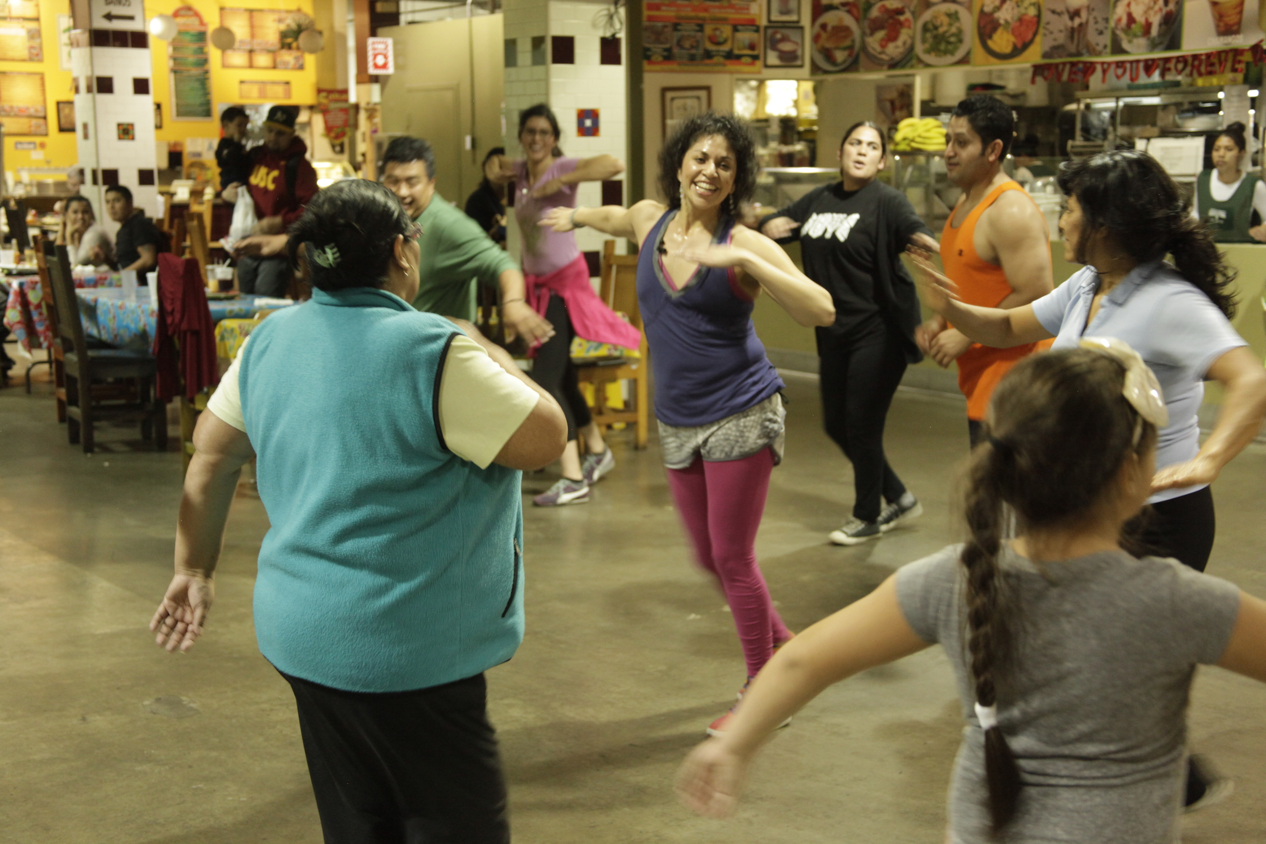 Dance class with live music by Buyepongo, Mercado La Paloma, L.A