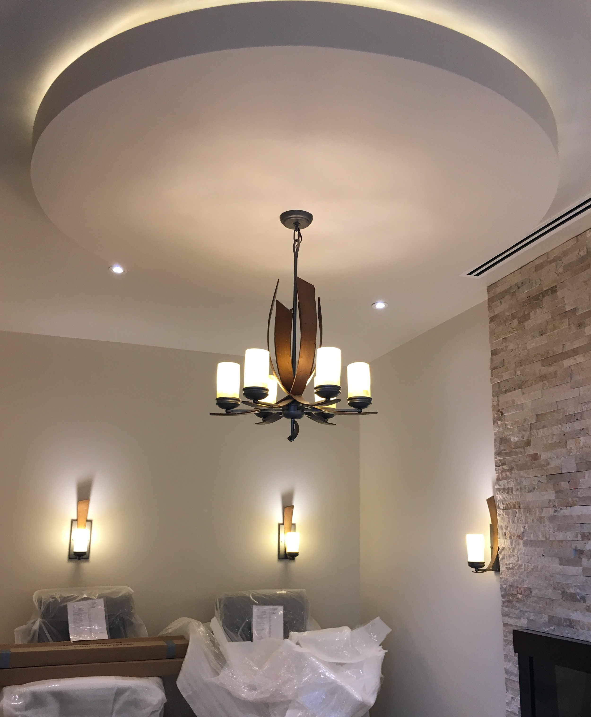 INTERIOR  Work in progress: custom lighting & finishes,procurement, FFF&E coordination