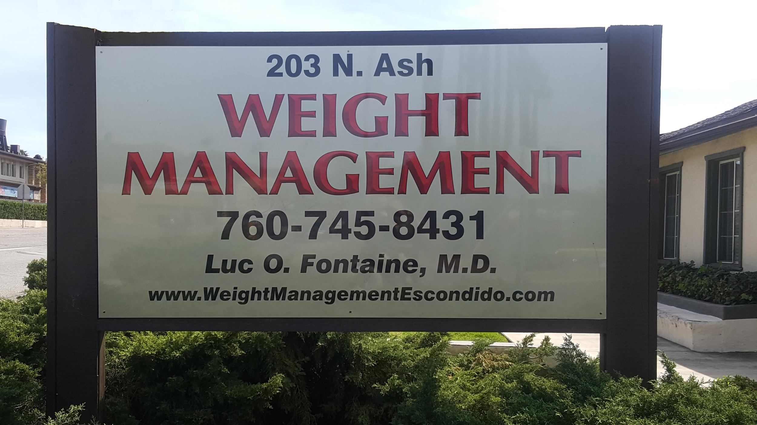 Weight Management Center, Escondido CA - Building Sign