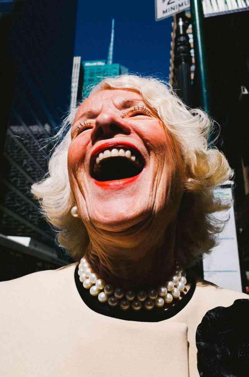 Grandma smiling on an intersection - Walid Azami