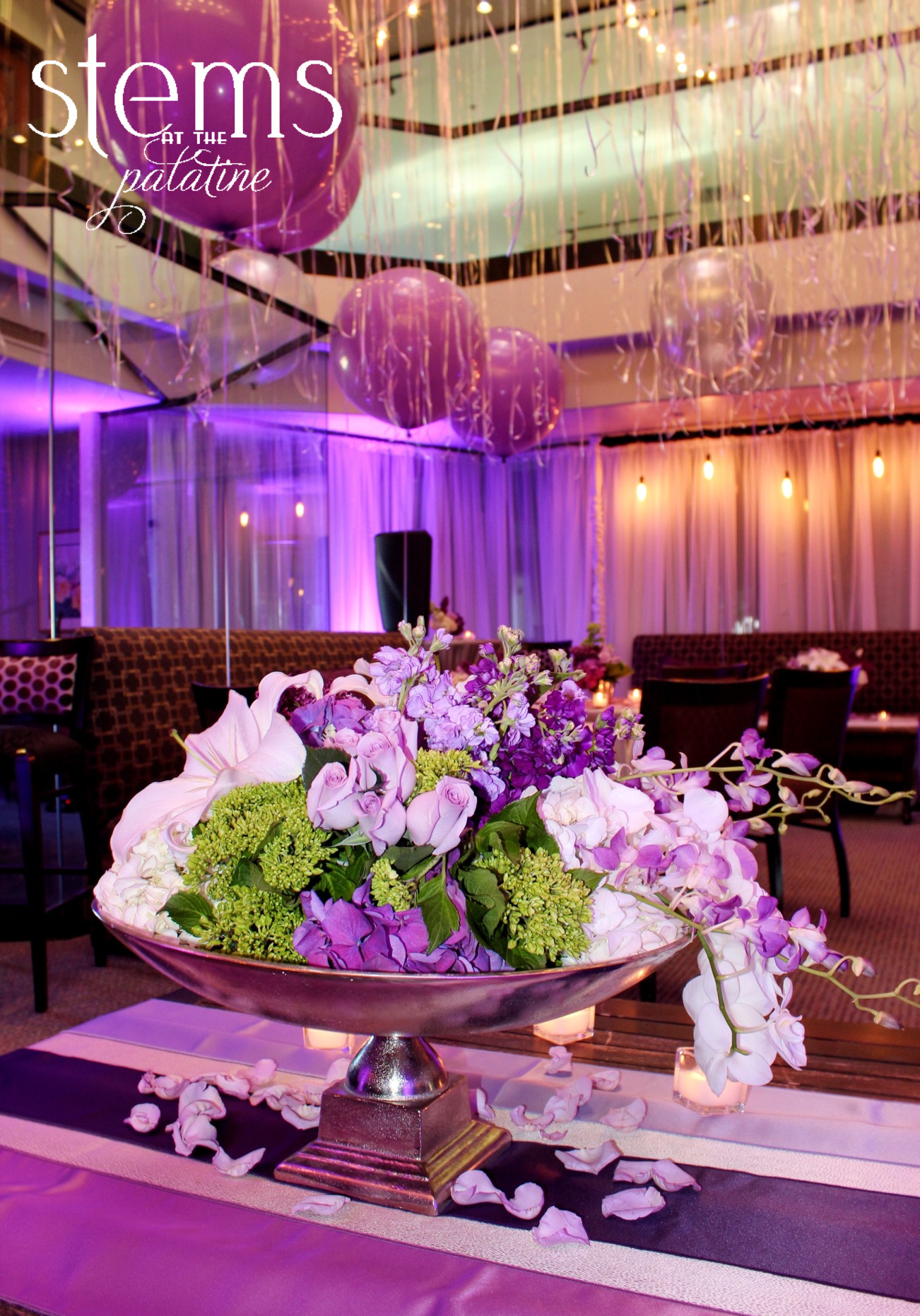 Floral & Event Design by  Stems at The Palatine