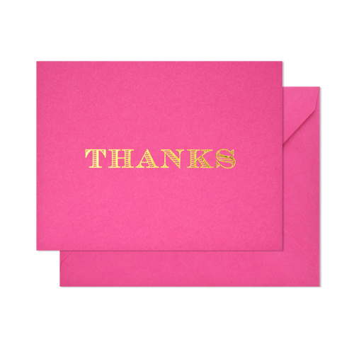 Classic 'Thanks' Card