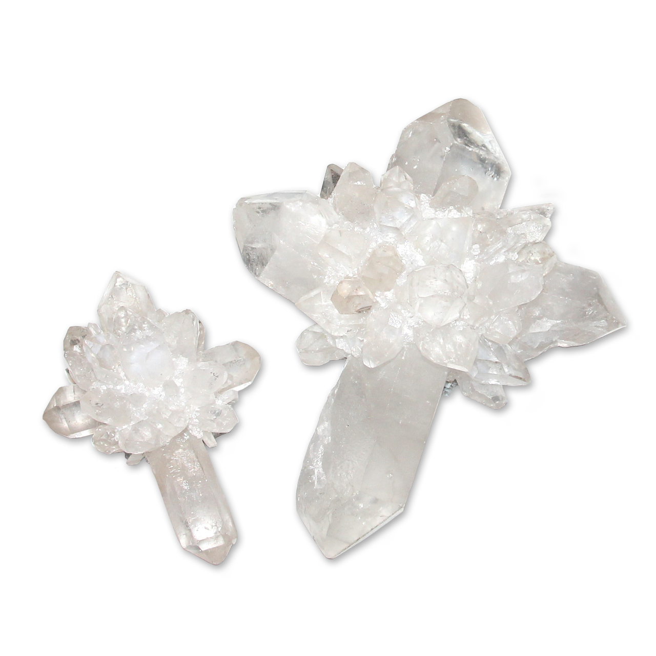 9. White Quartz Cross