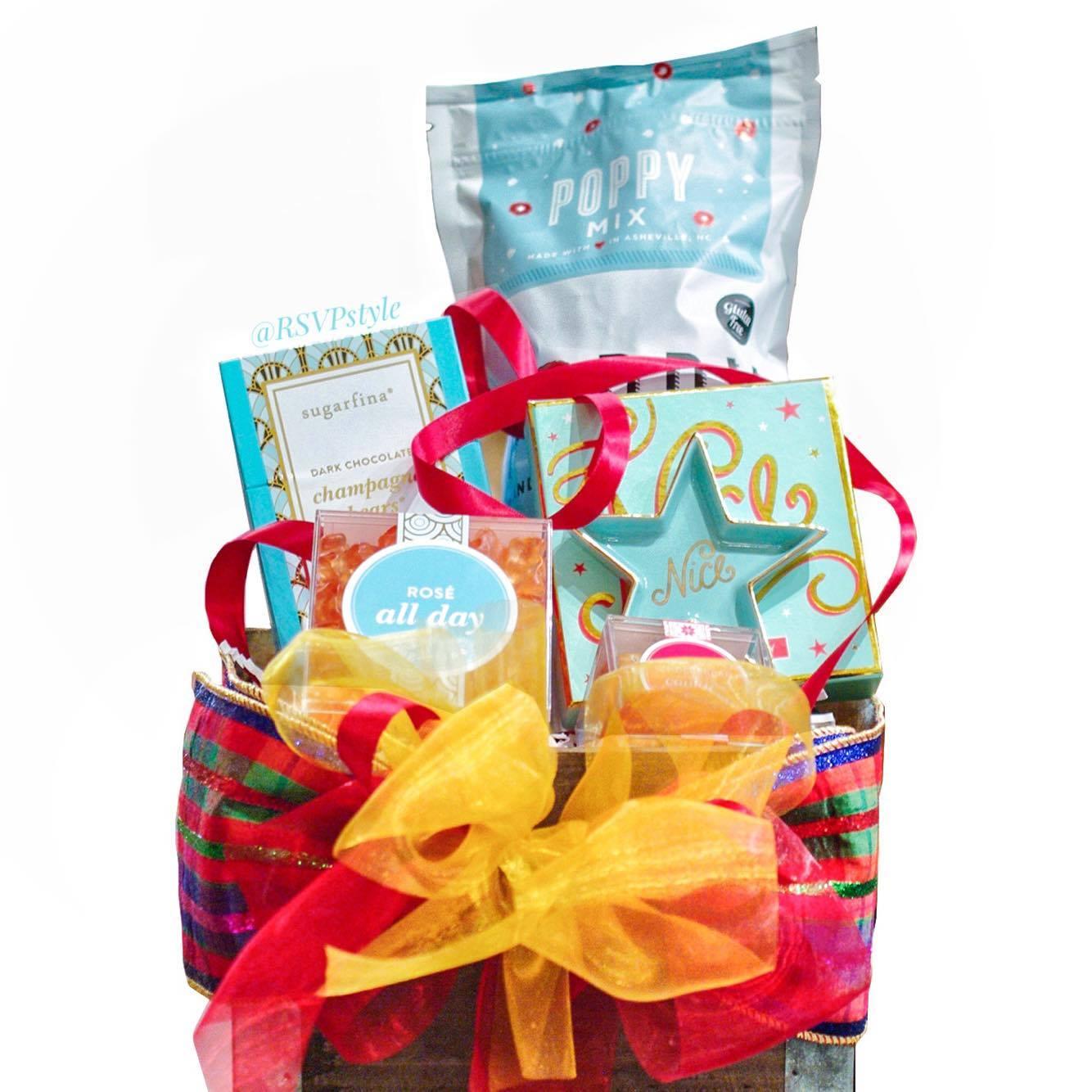 Tiffany Blue Themed Gift Basket