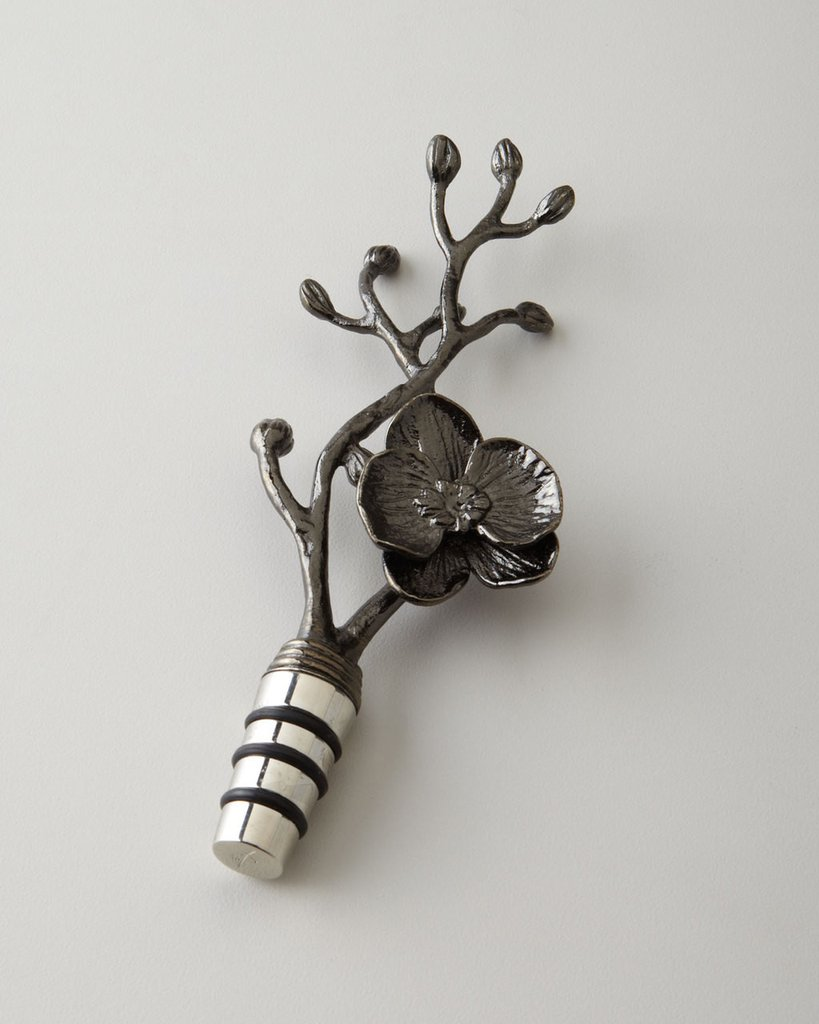 Black Orchid Wine Stopper