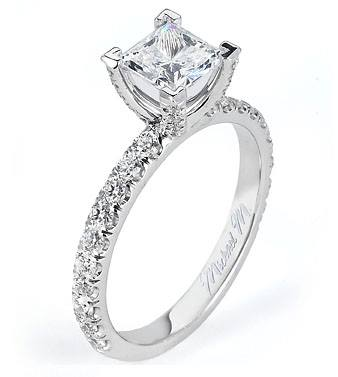 This Princess Solitaire is truly a beautiful and simplistic engagement ring!