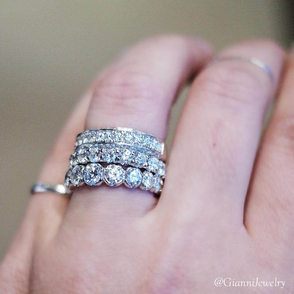 beautiful diamond bands