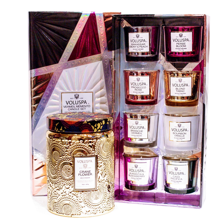 Voluspa Vermeil Memento 8 Candle Gift Set