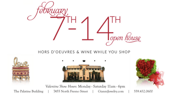 Join Gianni to celebrate the Season of Love at our Open House! Enjoy hors d'oeuvres & wine while you shop for the perfect gift—join us February 7-14, Monday-Saturday, 11:00 am-6:00 pm. -  RSVP ON FACEBOOK !
