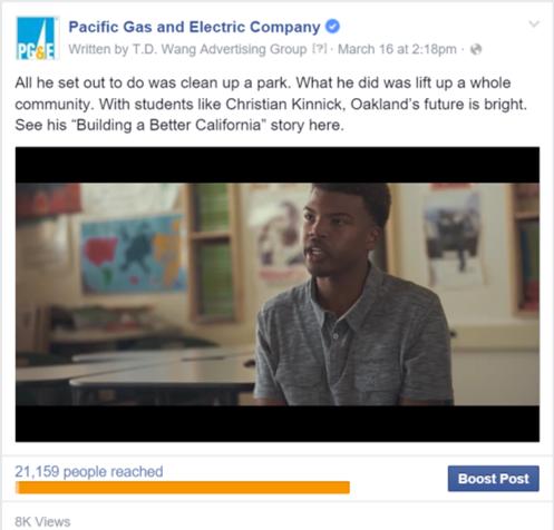 PG&E Social Media Posts