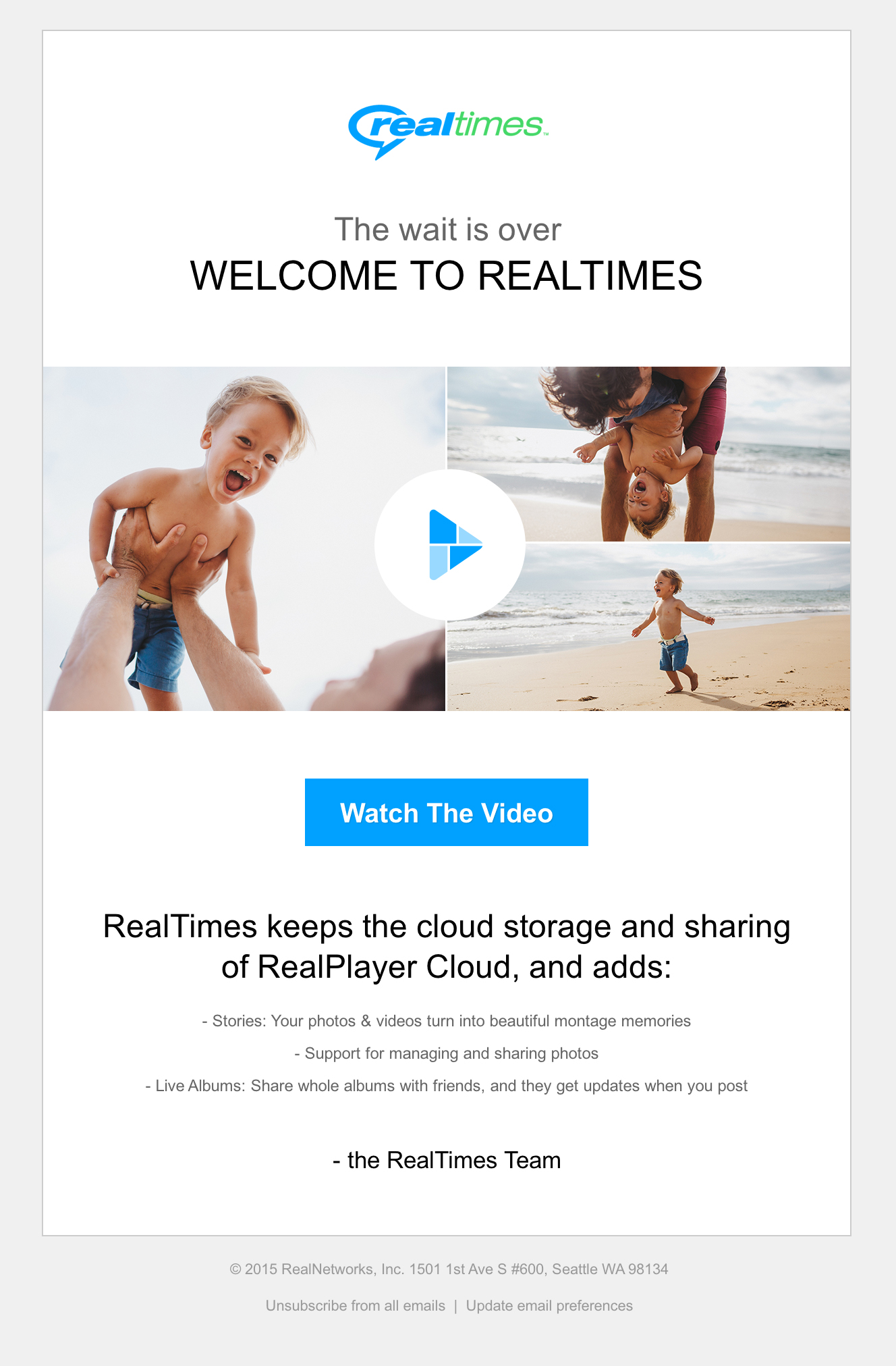 RealTimes Launch Email 1