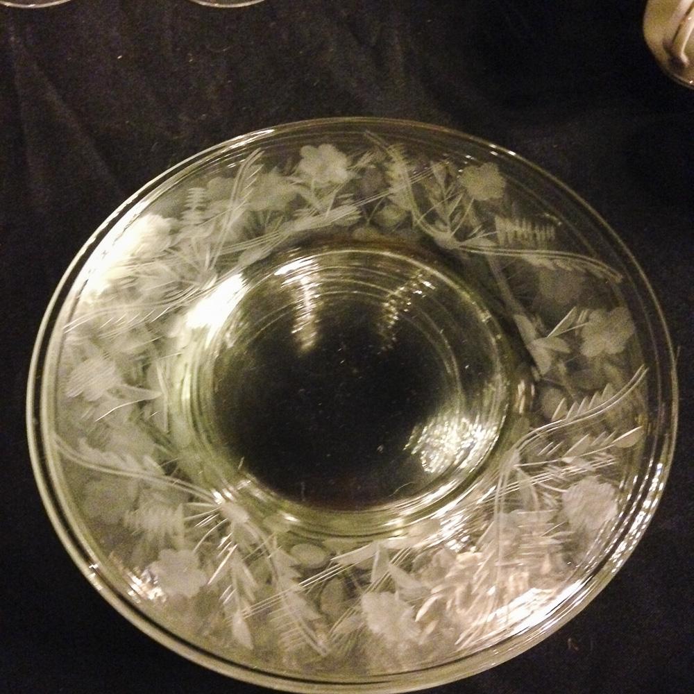 Glass cut dinner plates
