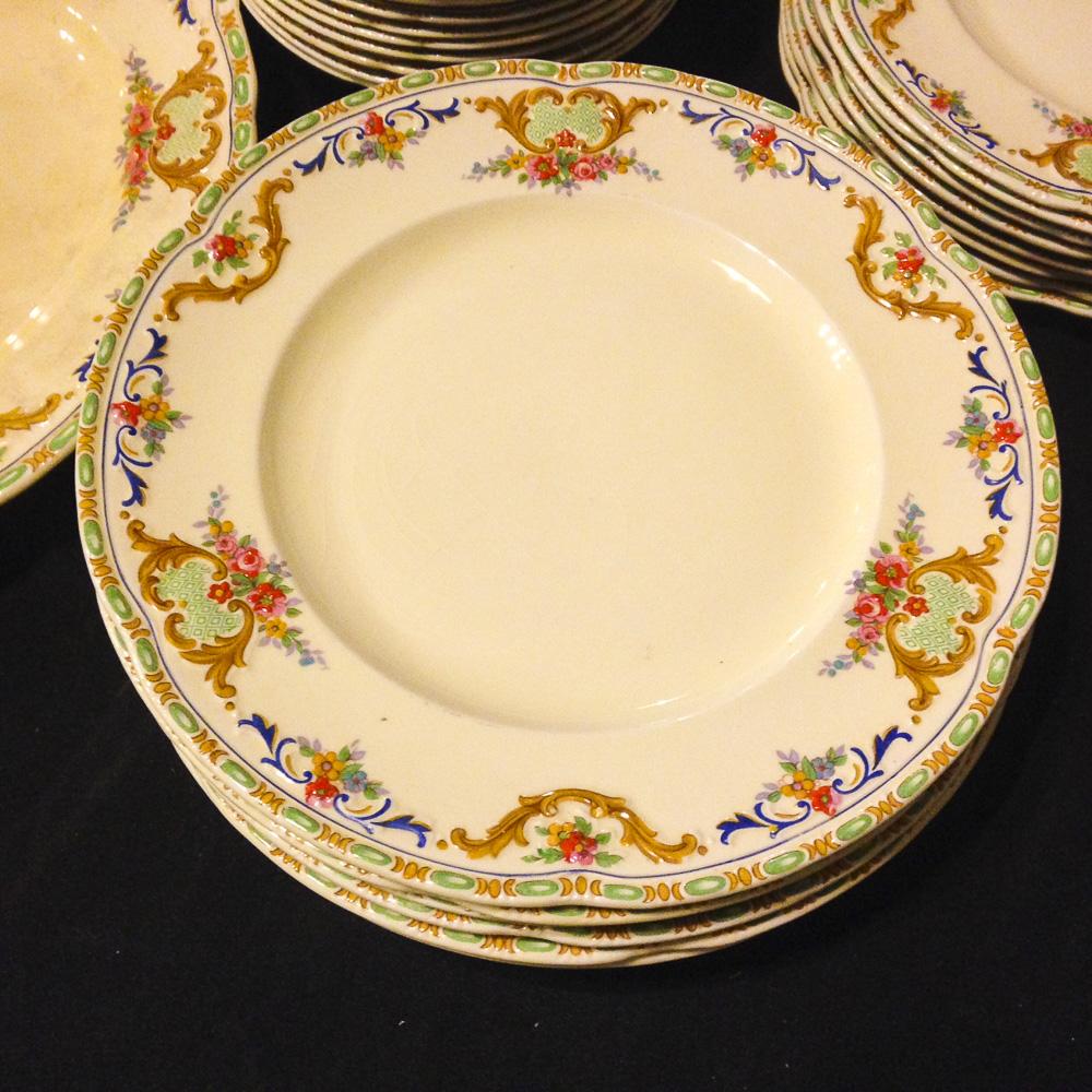 English dinnerware plates