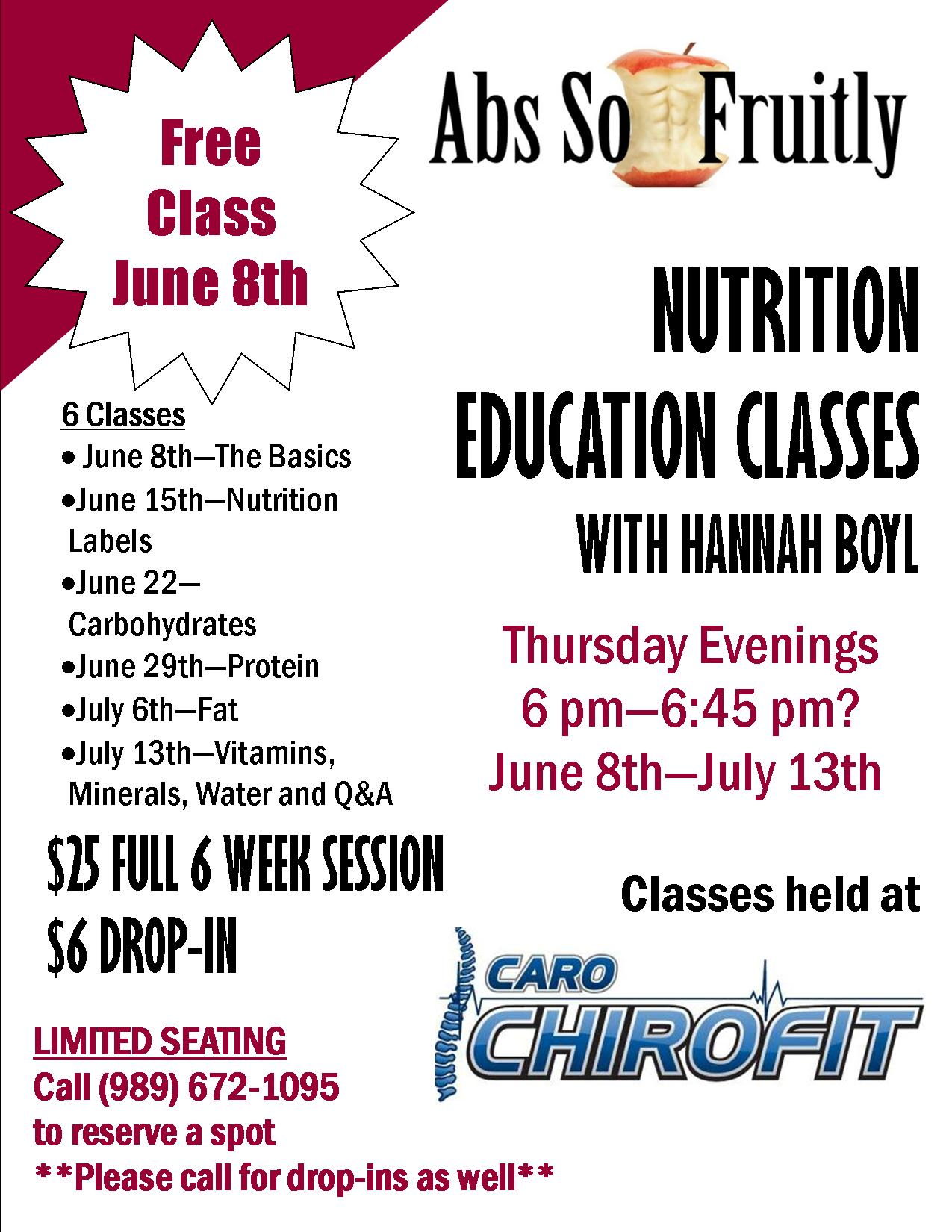 Nutrition Class Brochure
