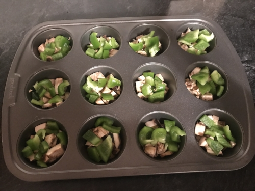 green peppers egg muffins