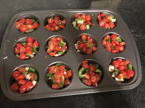 tomatoes egg muffin