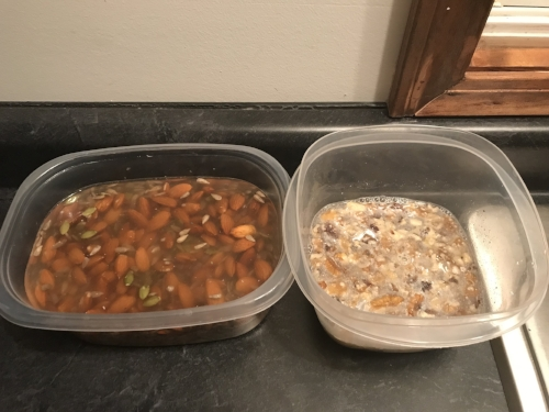 Soaking nuts and seeds