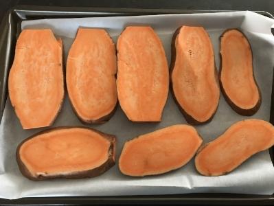 Sweet Potato Toast Slices Before Baking